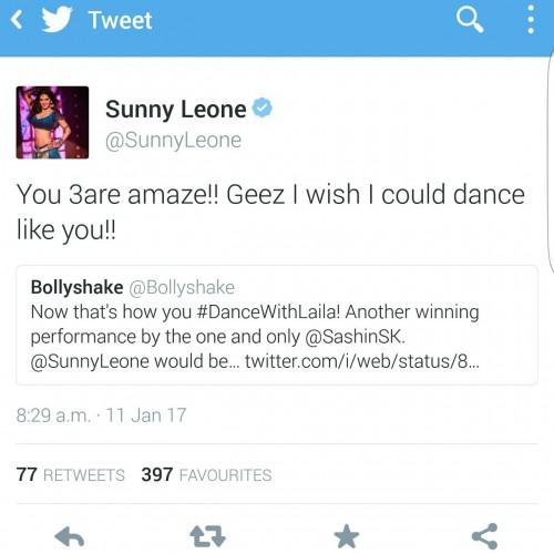 Sunny Leone Tweet