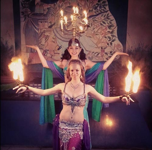 Oriental Fire - Belly Dancers with fire