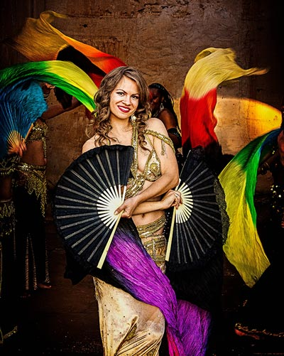 Terri - Bellydance  with fan veils